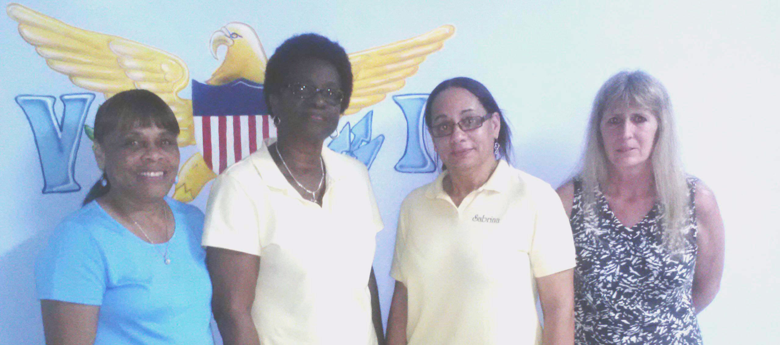 From left, Ernestine Canton, Sheryl Williams, Sabrina Hodge, Champion Terri Depka (missing from photo - Mercedes Peterson)