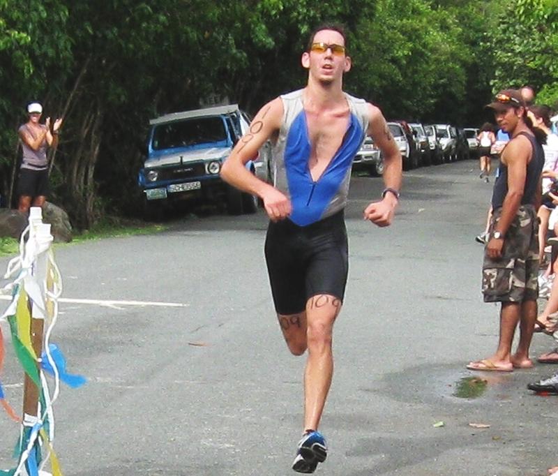 Male triathlon winner Matt Halk.