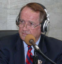 Holland Redfield announced his candidacy on the air.