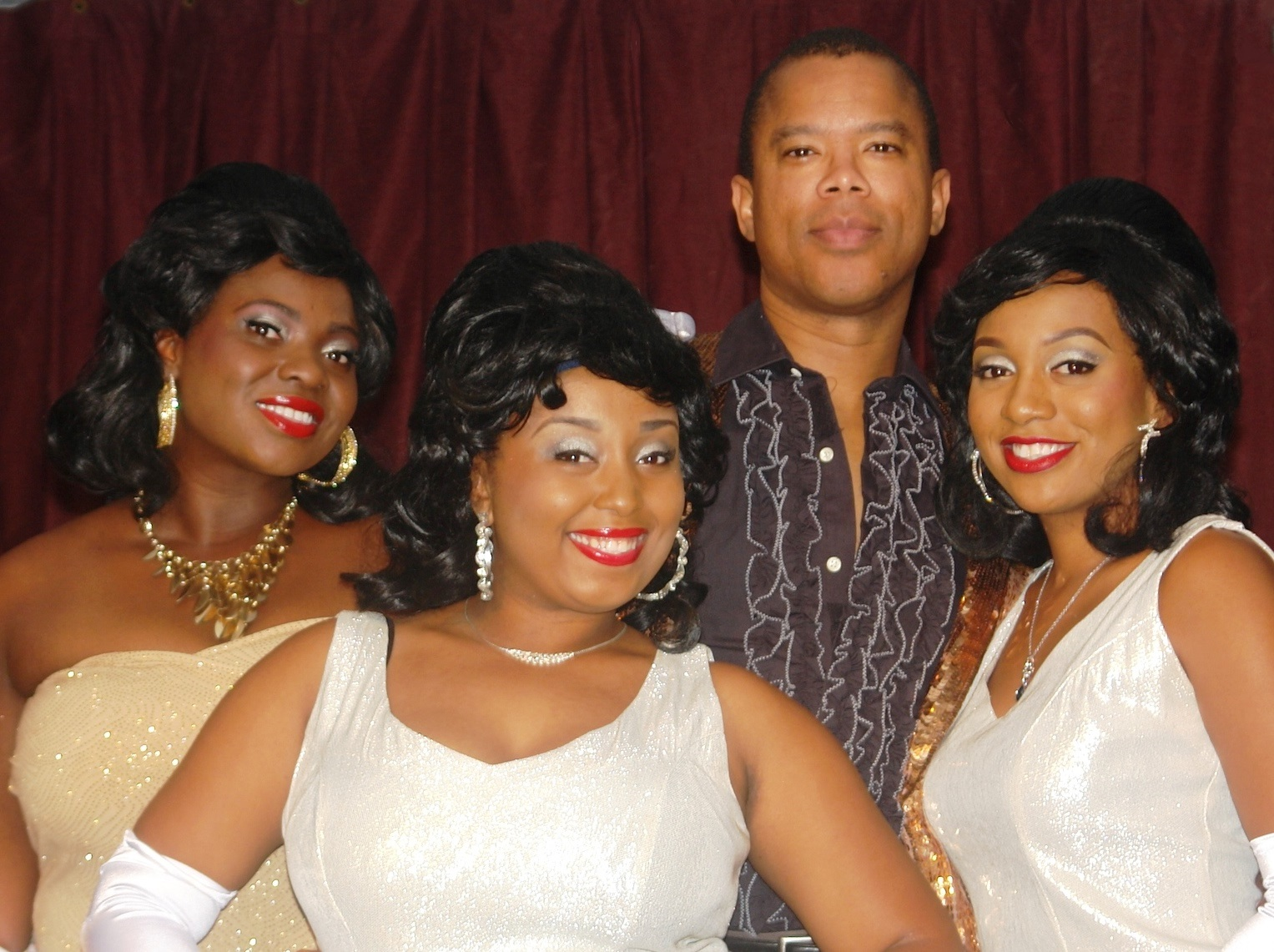 Part of the 'Dreamgirls' cast