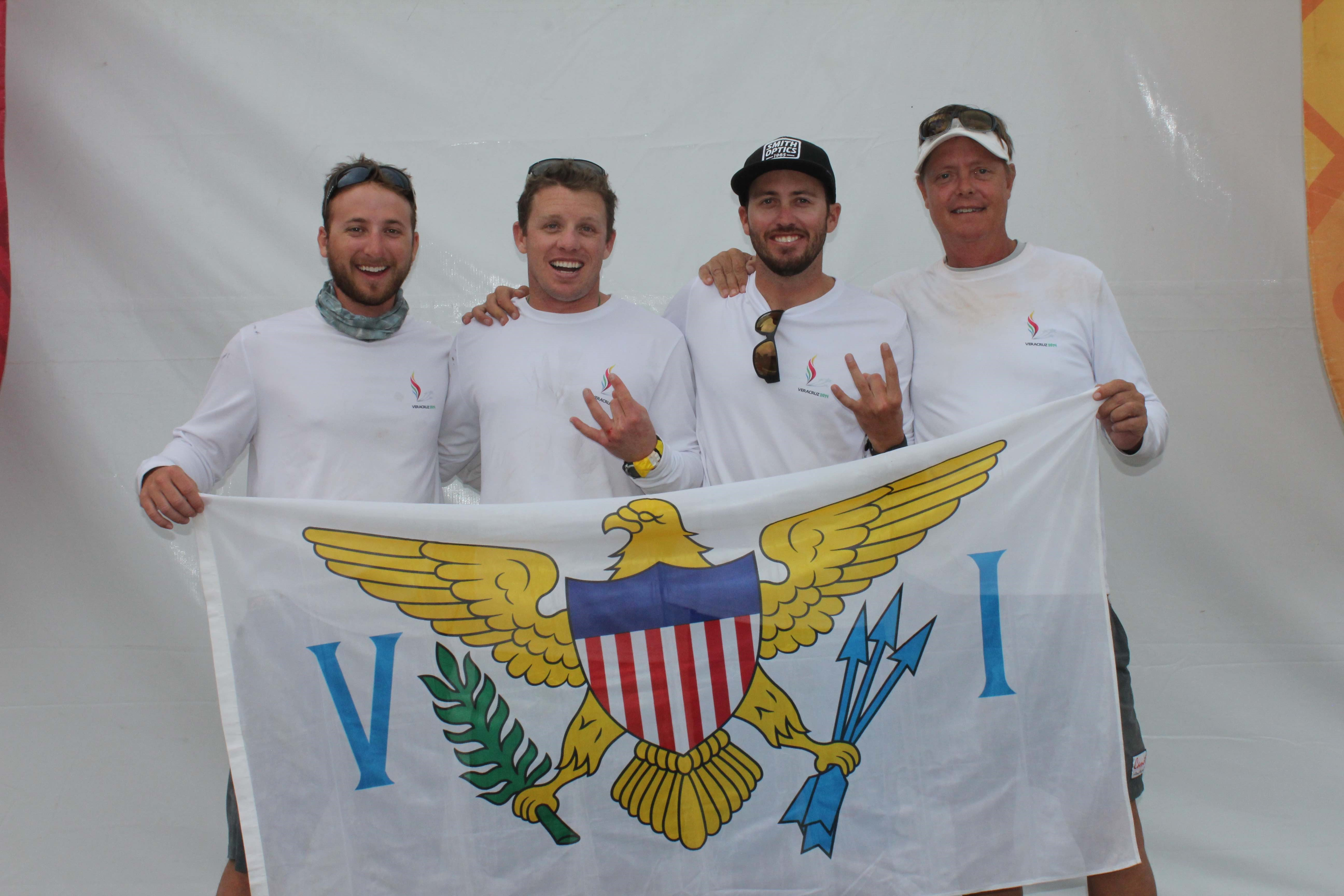 L to R Max Nickbarg, Addison Caproni, Taylor Canfield, Phillip Shannon at 2014 Central American and Caribbean Games (Credit Courtesy VISA)