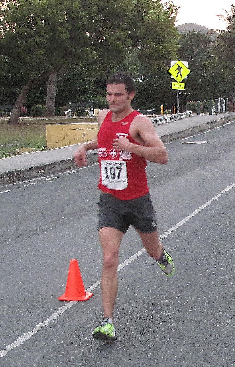 Nick Arcardo, winner of the 29th Annual Toast-To-The-Captain Road Race