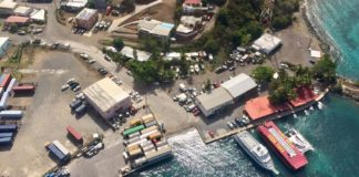 Crown Bay from above, before Hurricane Irma. (Kelsey Nowakowski photo)
