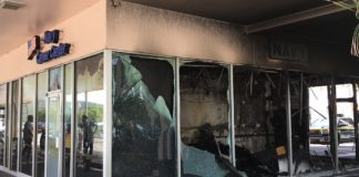 Fire damage at Nisky Center recruiting station in February 2017. (Source file photo)