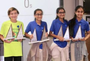 At the 2017 Mathcounts state final, Good Hope Country Day's Patrick Boring, and Kashish Chainani, Tanya Mirchandani and Ashwarya Nagpal from Antilles School took home the trophies and represented the territory at the national Mathcounts competition.