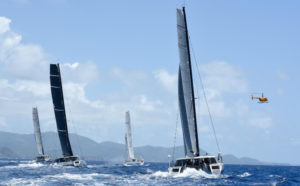 The Large Offshore Multihull Class came down to a tie-breaker. (Photo © STIR/Dean Barnes)