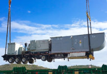 A new WAPA generating unit is unloaded on St. Thomas.