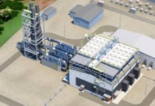 Rendering of the Wartsila Power Plant with three new units at Harley power plant St. Thomas. (Image provided by WAPA, March 2017)