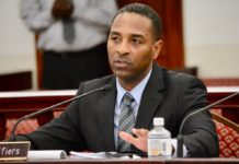 Attorney General Claude Walker in an April photo, testifying at a V.I. Senate hearing.. (Photo by Barry Leerdam, provided by the V.I. Legislature)