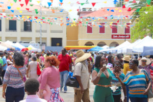 Emancipation Garden was packed Wednesday for the Cultural Fair.