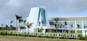 The RT Park building on UVI's St. Croix campus. (File photo)