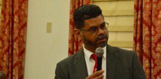 Sen. Sammuel Sanes during a recent legislative session.(Photo by Barry Leerdam, provided by the V.I. Legislature)