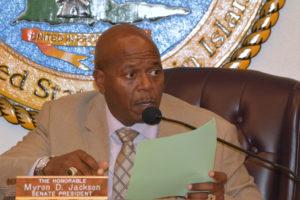 Senate President Myron Jackson (File photo)