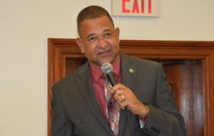 Sen. Jean Forde speaks during Wednesday's Senate session. (Photo by Barry Leerdam, provided by the V.I. Legislature)