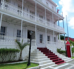 Government House, before the storms. (File photo)