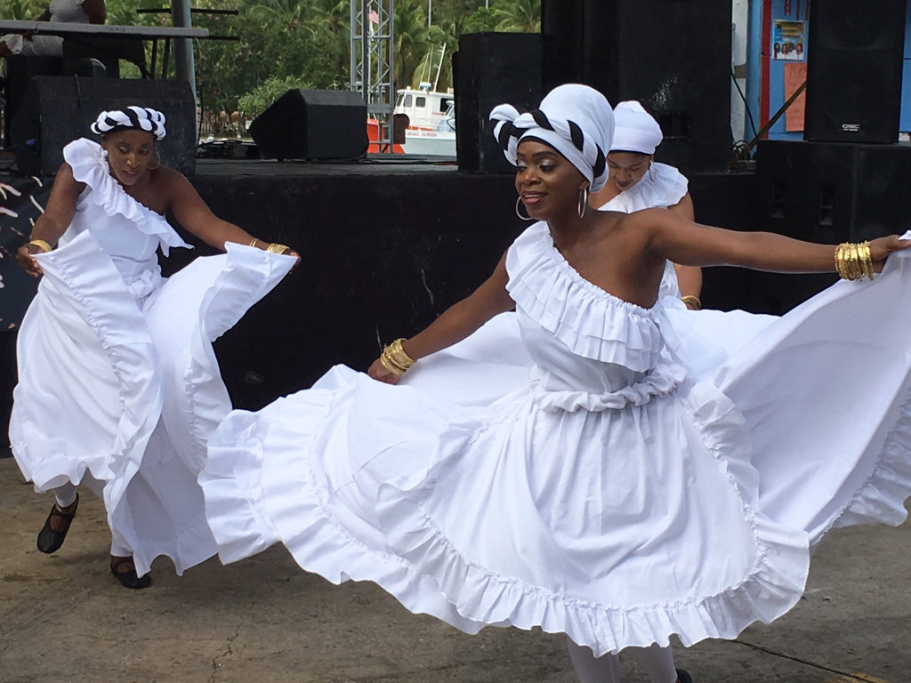 Dancers from the Diane Brown Ensemble swirl into action.
