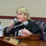 Elizabeth Armstrong at an April WAPA board meeting.