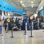 Passengers queue up in the Cyril E. King Airport (V.I. Port Authority file photo)