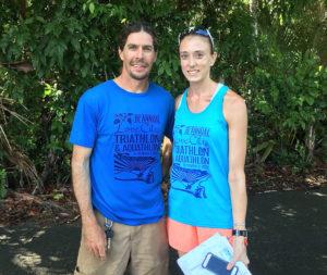 Love City Triathlon organizers Matt Crafts and Mary Vargo.