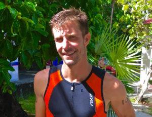 Love City Triathlon winner Stephen Swanson from St. Croix.