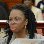 Health Commissioner Michelle Davis (Barry Leerdam photo for the V.I. Legislature)