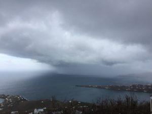 The north shore of St. Thomas as Hurricane Maria draws near.