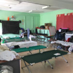 A classroom at Sprauve School on St. John became a storm shelter after the islands were battered in September. (Amy Roberts photo)