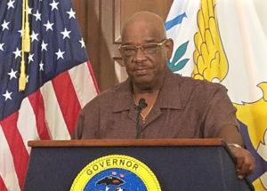 Dennis Brow, Department of Public Works Commissioner on St. Croix. (Jamie Leonard photo)