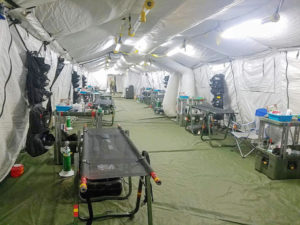 A hospital military tent, currently set up outside JLF. (Jamie Leonard photo)