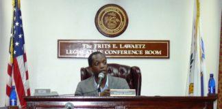 Wayne James conducts a Senate hearing in 2009.