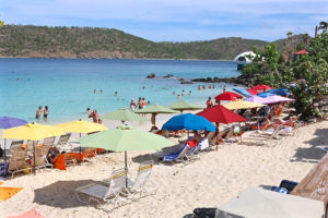 Coki Beach was filled with visitors last week.