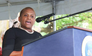 U.S. Army SHARP Director Monique Ferrell honors women veterans Saturday in her keynote address.