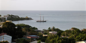 The schooner Roseway anchors in Christiansted Harbor in 2014. (Bill Kossler photo)