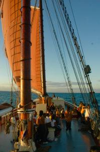 St. Croix students learning aboard the Roseway Schooner in 2007. (Bill Kossler photo)