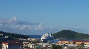 Seabourne Odyssey pays a call on Charlotte Amalie. (File photo)