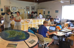 The park's Visitor Center has been converted into the Incident Command Center.