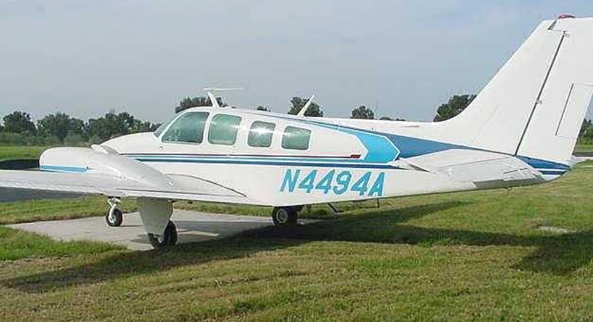 Photo shows the Beech 58 twin engine aircraft the FAA says crashed on St. Croix Thursday as it appeared in an online for-sale advertisement in 2015.