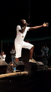 Kylo Sylvester performs during the Soca Monarch competition on St. Croix in January. (File photo)