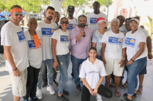 United Way and East India Association Cultural Center volunteers were on hand to supply packages to the crowd attending the Miracle on Main Street into Emancipation Garden Friday. The boxes were sent in by Adopt a Family volunteers and picked up from Floriday by United Way St. Thomas, according to organization head Vinod Dadlani.