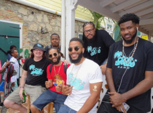 The Cool Breeze band with Adam O'Neal, front right, and brother Mystro in red. Adam won the Soca Party Monarch competition. (Anne Salafia photo)