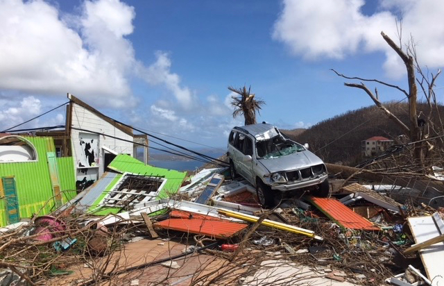 Photo taken in September shows hurricane damaged property on St. John.