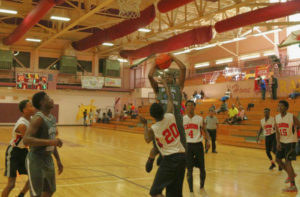 Tournament MVP Khadeem Horsford goes up for a shot.