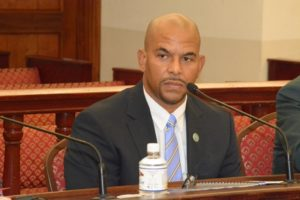 DPW's Nelson Petty takes questions from senators. (Photos by Barry Leerdam, V.I. Legislature)