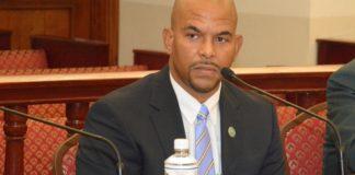 DPW's Nelson Petty takes questions from senators. (Photos by Barry Leerdam, V.I. Legislature)