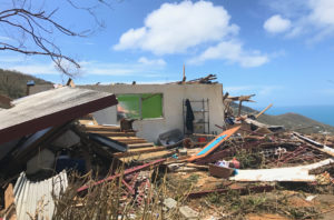 The view is about all that remains of this home on St. Thomas' Northside, post Hurricane Irma. Photo by Kelsey Nowakowski.