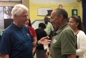 Clinton talks to Steve DeBlasio of the Bloomberg Group.