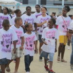 St. John school children march for cancer awareness during the 2016 Light Up the Night. (File photo)