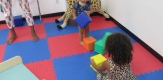 Children learn while playing at the V.I. Children's Museum.