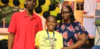 Territorial Intermediate Spelling Bee Champion Jah'Quane Graham.