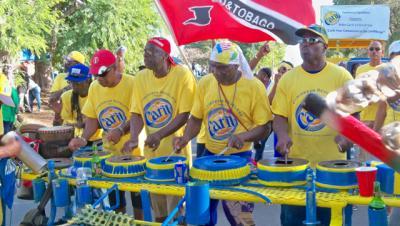Caribbean Revelers make music with junk